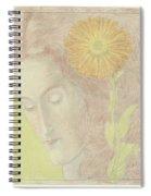Woman Head  Spiral Notebook