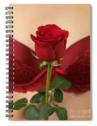 Woman Holding A Red Rose Spiral Notebook