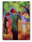 Woman In A Green Jacket Spiral Notebook