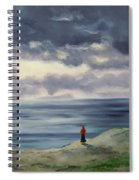 Woman In A Red Shawl Spiral Notebook