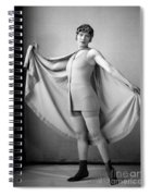 Woman In Bathing Suit And Cape, C.1920s Spiral Notebook