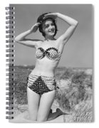 Woman In Bikini, C.1950s Spiral Notebook