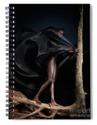 Woman In Black Flying Outfit Spiral Notebook