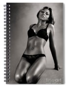 Woman In Black Lingerie Spiral Notebook