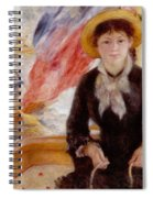Woman In Boat With Canoeist Spiral Notebook