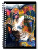 Woman In Color Spiral Notebook