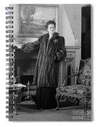 Woman In Fur Coat, C.1940s Spiral Notebook