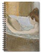 Woman In Her Bath Spiral Notebook