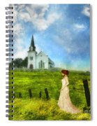 Woman In Lace By A Country Church Spiral Notebook