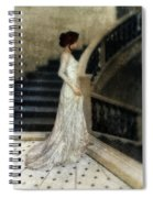 Woman In Lace Gown On Staircase Spiral Notebook