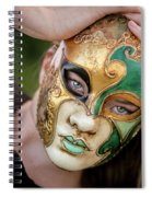Woman In Mask Spiral Notebook