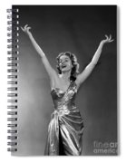 Woman In Metallic Dress, C.1950s Spiral Notebook