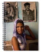 Woman In Purple Havana Cuba Spiral Notebook