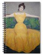 Woman In A Yellow Dress Spiral Notebook
