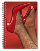 Woman In Red High Heel Shoes Spiral Notebook