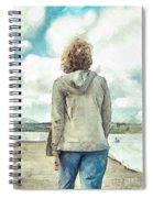 Woman In Rustico Harbor Prince Edward Island Spiral Notebook