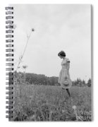 Woman In Summer Meadow, C.1970s Spiral Notebook