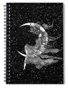 Woman In The Moon Spiral Notebook