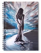 Woman In The Moonlight Spiral Notebook