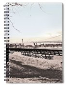 Woman In The Snow Spiral Notebook