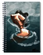 Woman In The Water  Spiral Notebook