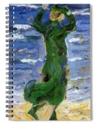 Woman In The Wind By The Sea 1907 Spiral Notebook