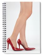 Woman Legs In High Heel Shoes Spiral Notebook