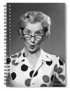 Woman Looking Over Her Glasses Spiral Notebook
