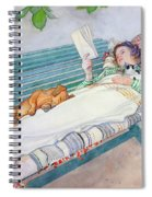 Woman Lying On A Bench Spiral Notebook