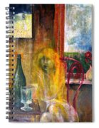 Woman Near Window  Spiral Notebook