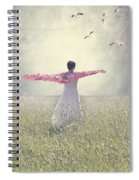 Woman On A Lawn Spiral Notebook