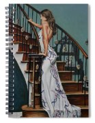 Woman On A Staircase 3 Spiral Notebook