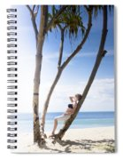 Woman On Holiday Spiral Notebook