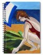 Woman On The Beach Spiral Notebook
