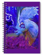 Woman On The Brink Of Civilization Spiral Notebook