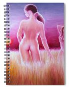 Woman On The Fields Of Gold Spiral Notebook