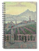 Woman On The Terrace Spiral Notebook