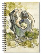 Woman Picking Cabbage Spiral Notebook