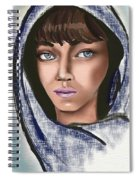 Woman Portrait Spiral Notebook