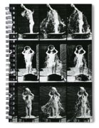 Woman Pouring A Basin Of Water Over Her Head Spiral Notebook