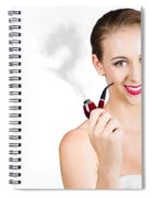 Woman Problem Solving With Pipe Spiral Notebook