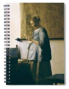 Woman Reading A Letter Spiral Notebook