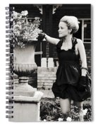 Woman Relaxing In Garden Spiral Notebook