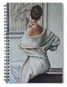 Woman Sat In A Gallery Spiral Notebook