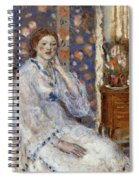 Woman Seated In An Armchair Spiral Notebook