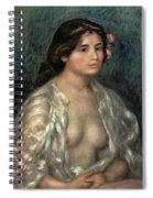 Woman Semi Nude Spiral Notebook