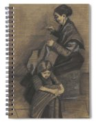 Woman Sewing, With A Girl The Hague, March 1883 Vincent Van Gogh 1853 - 1890 Spiral Notebook