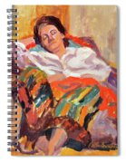 Woman Sleeping Spiral Notebook