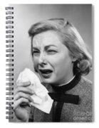 Woman Sneezing Spiral Notebook