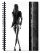 Woman Standing In Doorway Spiral Notebook